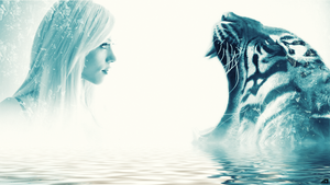 Woman and Tiger by Oasis-Designer