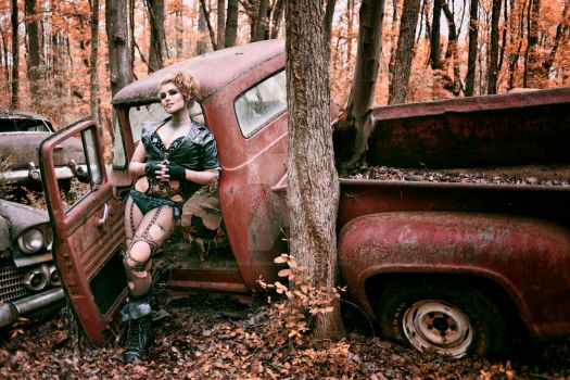 Nikki Nuke'm at Old Car City USA - II by DimHorizonStudio