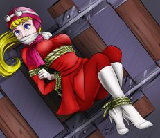 Penelope Pitstop Bound and Gagged by sleepy-comics