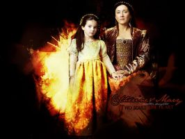 Catherine and Mary - The Tudor by SophiaHana