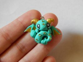Turquoise Dragon Charm by XDtheBEASTXD