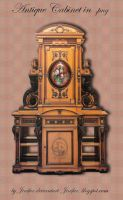 Antique Cabinet in png by jinifur