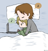 Day 17: Spooning (Sabriel) by Nile-kun