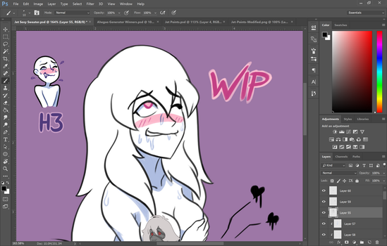 Citrine Ahegao WIP by TheGraffitiSoul