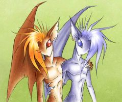 Not quite Twins by luvmegabyte