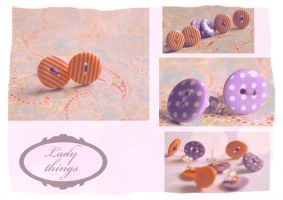Button earrings by TeapotMysteries