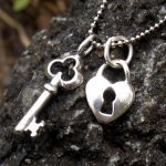 Lock and Key Charm Necklace by AelisLaurel