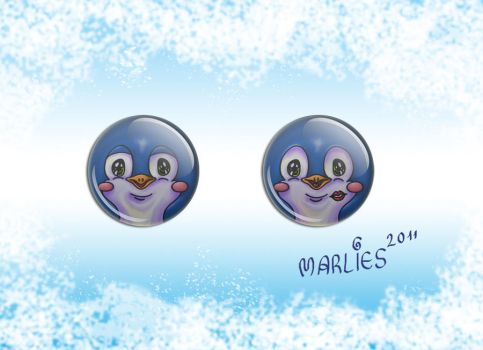 Penguin Buttons by Draco-at-DeviantART