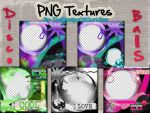 5 PNG PSD DiscoBall Textures by TheDesignOfOurLifes