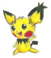 Notched ear Pichu said hi! by Proshi
