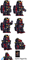 Psyco Gundam Sprite Sheet by heartlessk