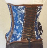 Blue underbust corset side by LillysWorkshop