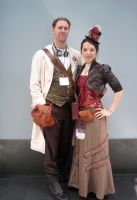 Steampunk outfits by tanya2s