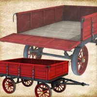 Shiny New Wagon RED by Just-A-Little-Knotty