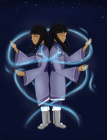 Waterbending Twins by SammyDincht