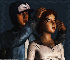 Gabriel and Clementine by nikitunom