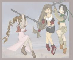 FF7 : Girls can fight too by Chenille-Cerise