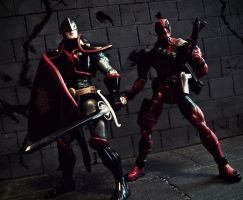 Black Knight Team Up - Enter Deadpool by PsychosisEvermore