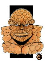 The Thing fantastic 4 watercolor version by tenshiflyers
