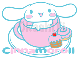 Cinnamoroll In a Tea Cup by OkashiTi