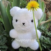 White Amigurumi Bear by CatNapCaps
