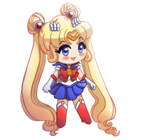 Sailor Moon - Chibi by drewbiedooah