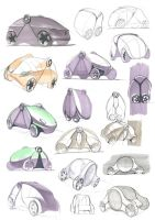 Concept car sketches by Nico4blood