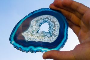 Blue lace (agate geode slice) by kizer29