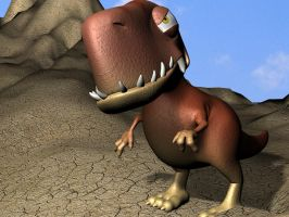 Cartoon T-Rex in 3D by 3DSud