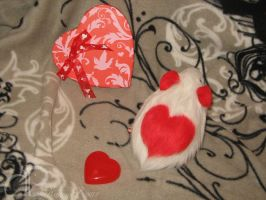 I :heart: Guinea Pigs Plushie - White + Red Heart by Morumoto