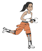 Chell Vector by pikmin789