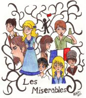 Les Mis Collage by silohettekitty