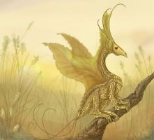 Gold leaf dragon by sovereign