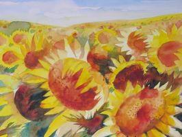 Sunflowers by andreuccettiart
