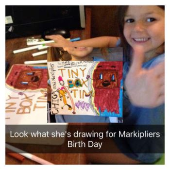 Happy Birthday Markiplier!- By 5 year old Natasha by GabiSAS