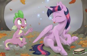 Royal Sketchbook: Fall Picnic by SilFoe