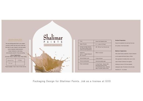 Shalimar Paints- Packaging by nehamithbawkar