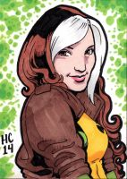 Sketchcards Marvel Rogue by hamdiggy