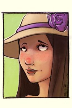 A girl with a hat by JR-T