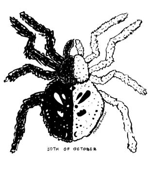 Inktober and Drawlloween #30: SPIDER by naiveplant