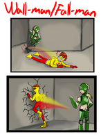 Wall-man vs. Fall-man by Mintsikka