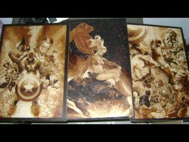 finished woodburnings by burninginkworks