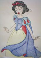 Tim Burton Snow White by spring-Rayne