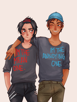The Mean and The Annoying by chuu-art