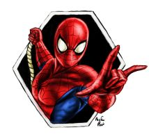 Spidey Colored by PackRatTheArtist