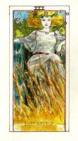 tarot empress study by carbono14