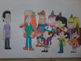 My birthday in Gravity Falls style! by AngeloCN