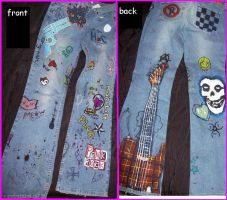 Modified Blue Jeans_punky by blood-red-rain