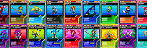 Sonic Dimentions Skill Cards by CryoflareDraco