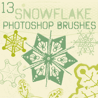 Snowflake Brushes by chokingonstatic